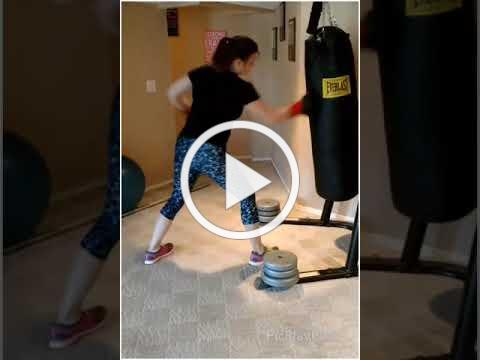Jeannie - Heavy Bag Jabs and Uppercuts