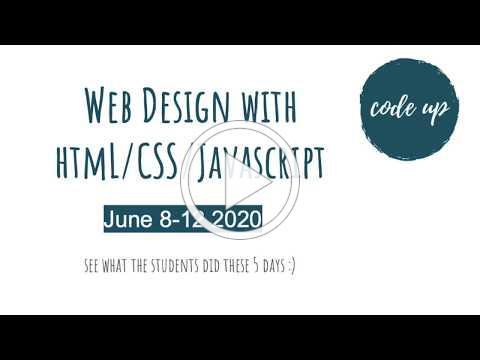Code Up 2020 Web Design