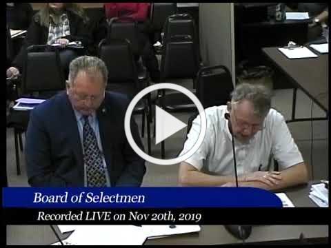 2019-11-20 WB Board of Selectmen