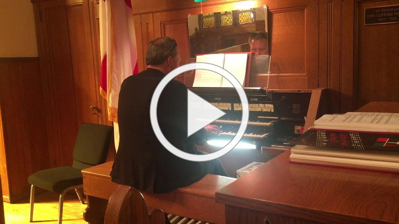 Brian at the organ