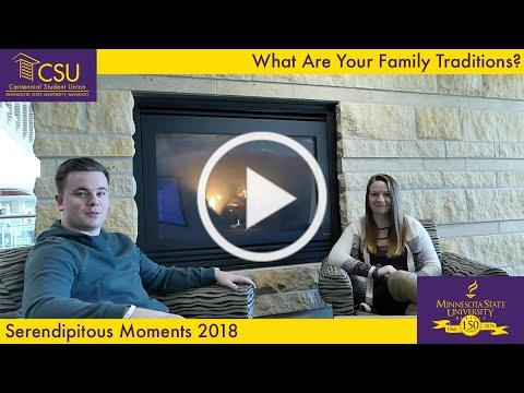 What Are Your Family Traditions? - Serendipitous Moments MNSU Mankato November 2018