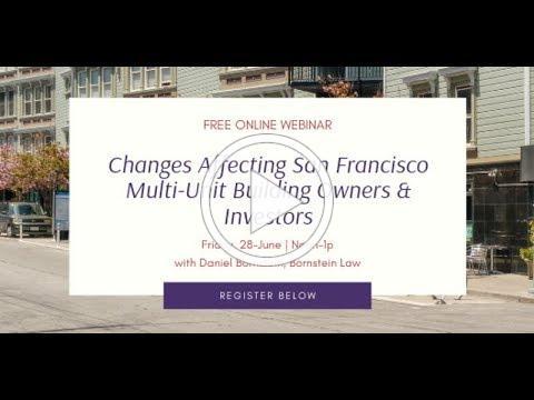 COPA and Multi Unit Sales in San Francisco Webinar