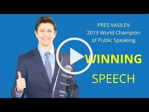 Pres Vasilev | World Champion of Public Speaking (2013)