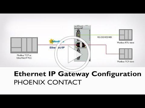 Configuring Phoenix Contact's EtherNet/IP Gateway