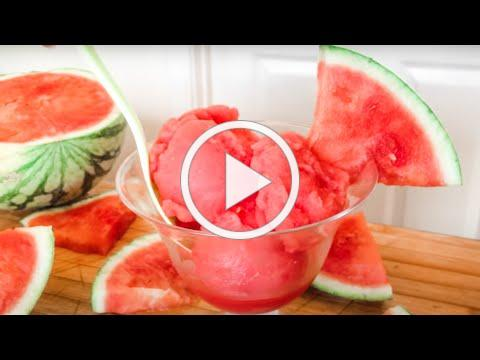 How To Make 2 Ingredient Watermelon Sorbet