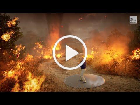 Inside a Firenado | Immersive Mixed Reality