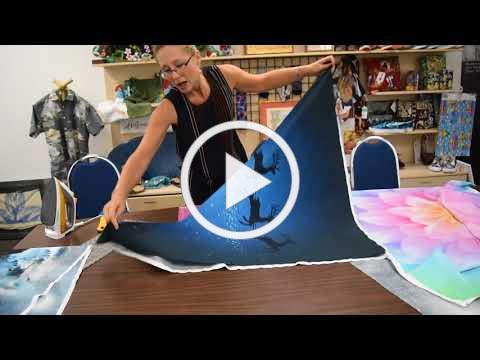Squaring up Hoffman Fabrics Panels
