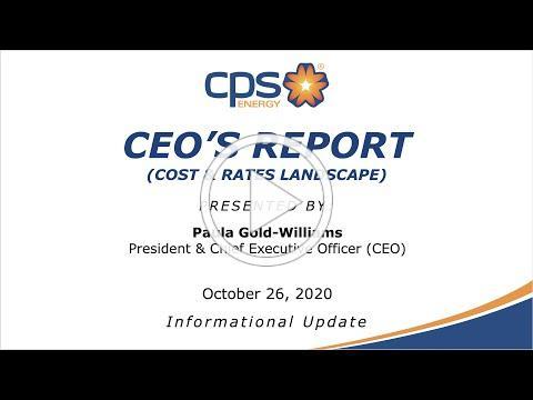 Board of Trustees Meeting 10/26/2020 CEO Report - Paula Gold-Williams
