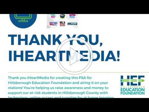 iHeartMedia supports Hillsborough Education Foundation