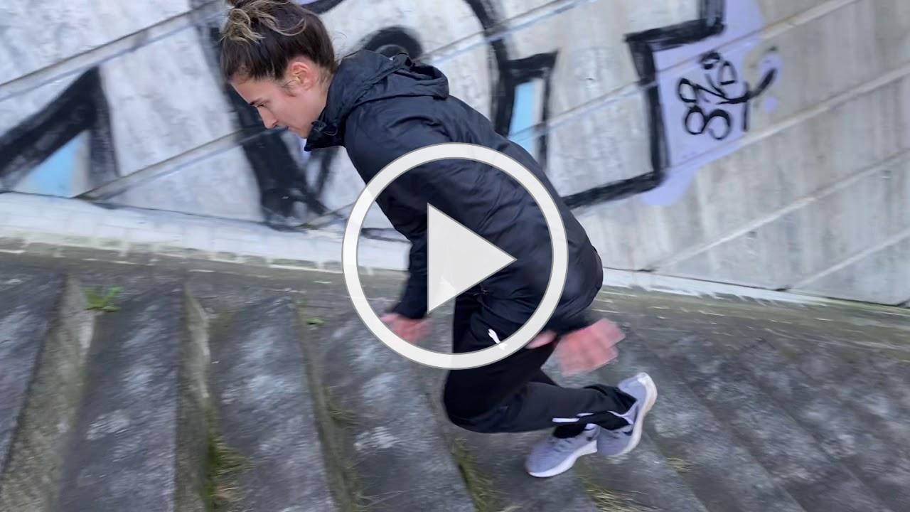 Madeline McCracken Stair Workout