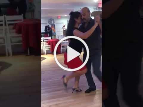 Argentine tango Walk inside with and without syncopation with Parada keeping the line of dance
