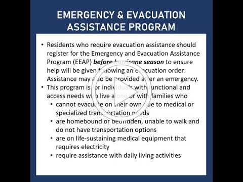 PB Prepares Hurricane Preparedness 2021; Emergency & Evacuation Assistance Program