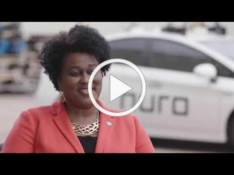 Vice Mayor Pro Tem Martha Castex-Tatum talks with Nuro about Autonomous Vehicles in Houston