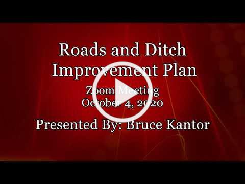 City of Lathrup Village. Road and Ditch Improvement Plan. October 4, 2020.