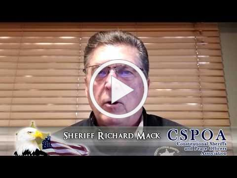 Sheriff Richard Mack and the CSPOA oppose violence by police and protestors