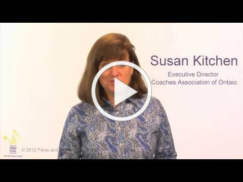 Why HIGH FIVE Sport - Susan Kitchen, Coaches Association of Ontario