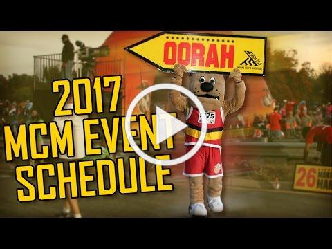 2017 MCM Event Schedule