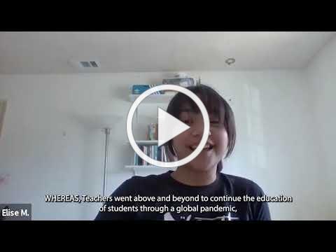 MUSD Teacher Appreciation Video Reading 2021 by TRMS students