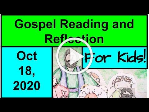 Gospel Reading and Reflection for Kids - October 18, 2020 - Matthew 22:15-21