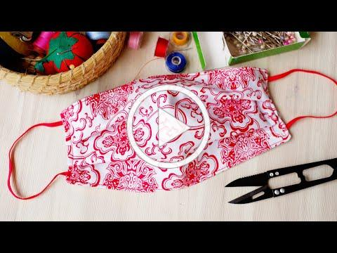 For BEGINNERS! ❤ How To Make A Fabric Face Mask At Home Easy