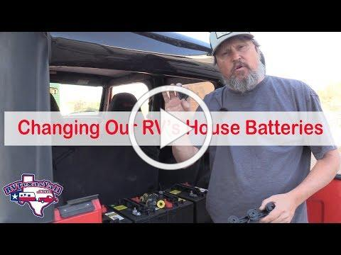 RV Tips: Changing Our Motorhome's House Batteries | RV Texas