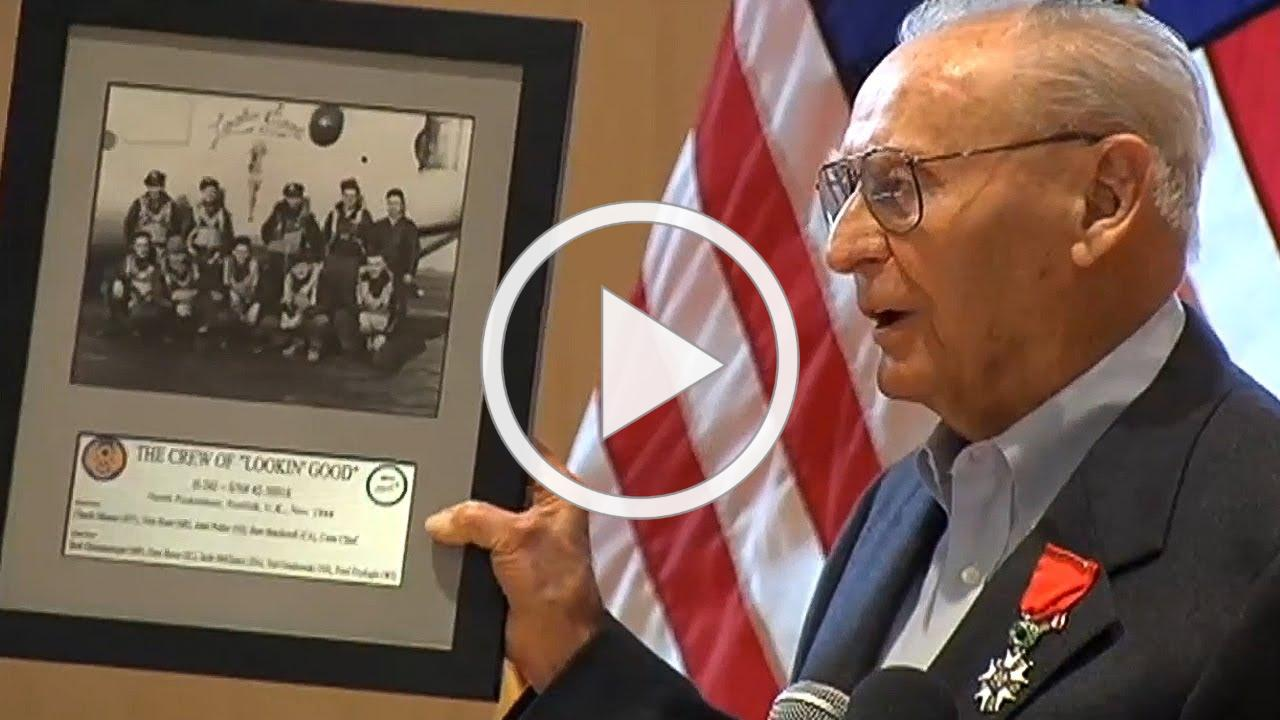 Ceremony honors NJ veteran who flew 35 combat missions in WWII