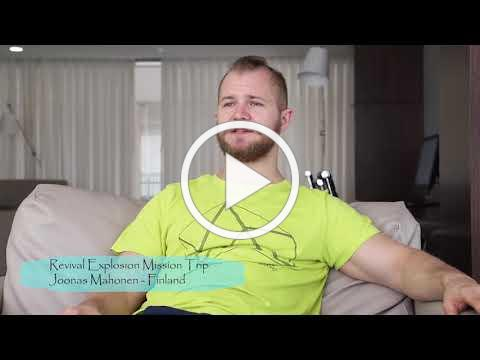 Testimony about Revival Explosion Mission Trip - Joonas from Finland