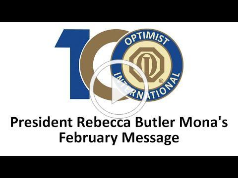 President Rebecca Butler Mona, February message