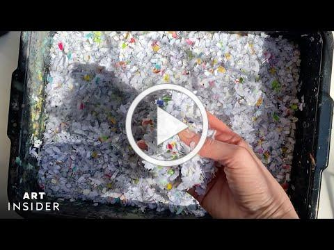 Artist Makes Sustainable Craft Paper