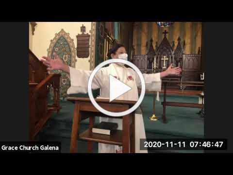 Grace Episcopal Church, Galena IL Wednesday 11 11 2020