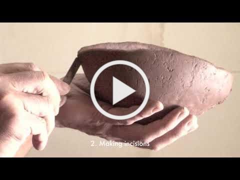 The process of Surface Folds: Yukiya Izumita Clay Wares