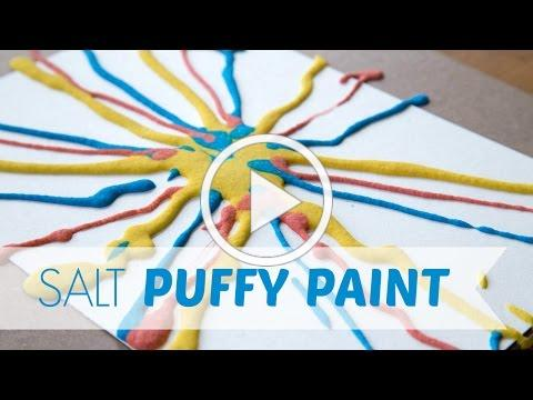 How to Make and Use Salt Puffy Paint