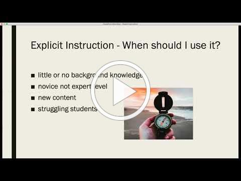 Explicit Instruction in Virtual Classroom