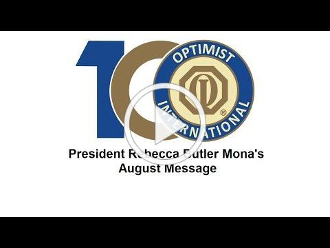 President Rebecca Butler Mona's August Message