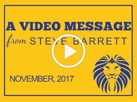 November Video Message from the Superintendent