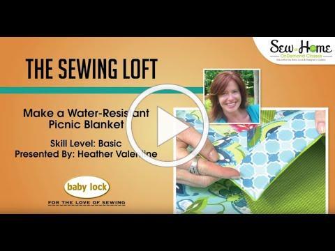 Water-Resistant Picnic Blanket Tutorial