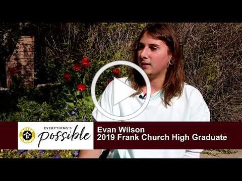 Boise and Beyond - 2019 Graduate Profiles - Evan Wilson