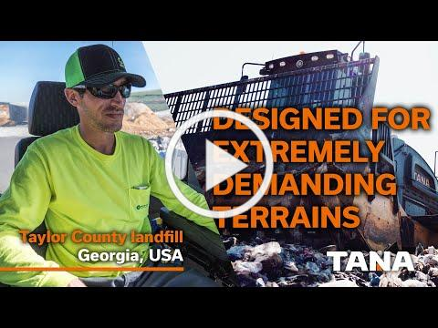 TANA Landfill compactors - Designed for Extremely Demanding Terrains
