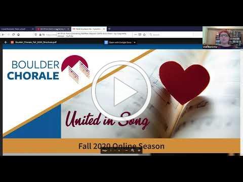 Boulder Chorale United in Song