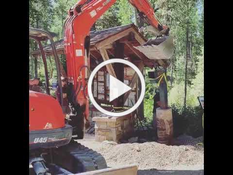 Lion Mountain Donation Box Installation