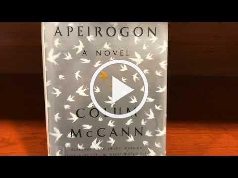 Osterville Village Library, First Chapter Friday, today 'APEIROGON' by COLUM MCCANN