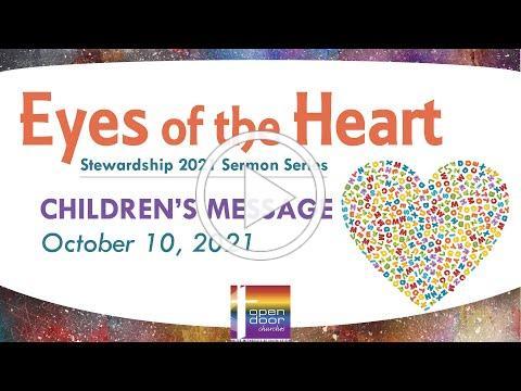 Children's Message - October 10, 2021