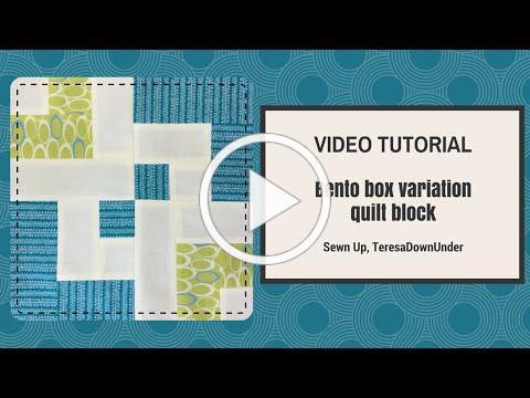 Video tutorial: Bento box quilt block variation - beginner's block