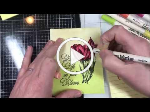 Metallic Stained Glass Rubber Stamping
