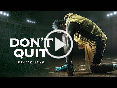 I WASN'T RAISED A QUITTER - A Tribute to Dad | Former NBA Athlete Walter Bond Motivational Speech