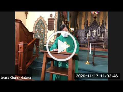 Grace Galena Sermon November 15, 2020