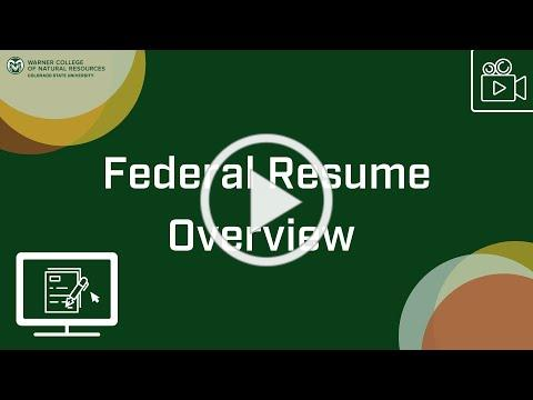 Federal Resume Overview
