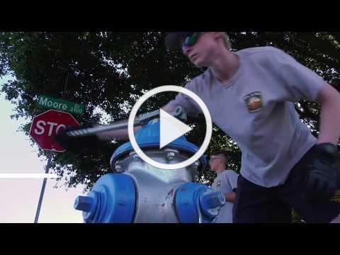 Plano Fire-Rescue Explorers Inspect Fire Hydrants