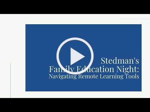 Family Education Night - Learning to Navigate Remote Learning Tools