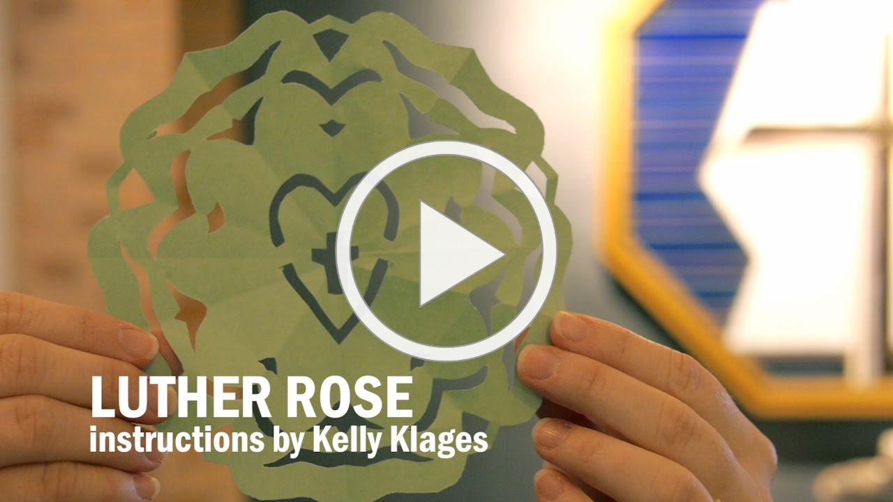 How to Make a Paper Cut-Out Luther Rose